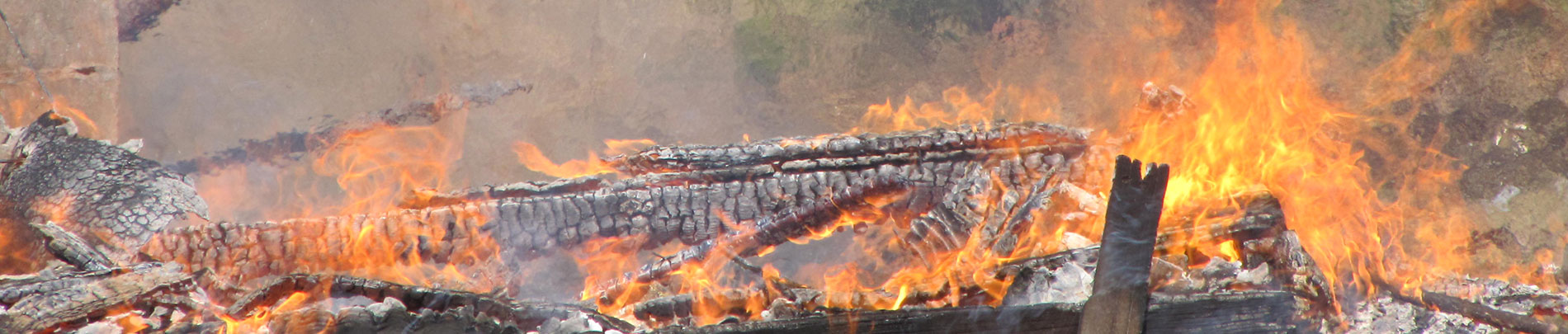 A close up view of an intense fire.