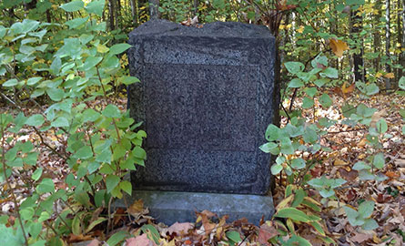An old headstone in one of our cemeteries.