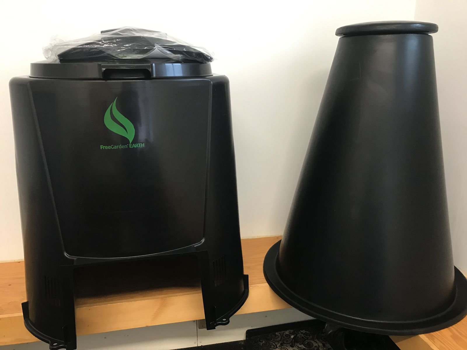Comparison image showing composter and digester side by side.
