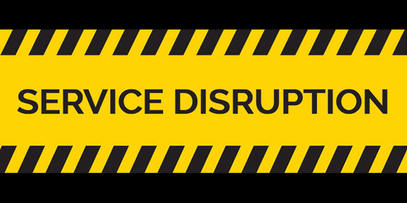 Service Disruption Sign